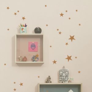Ferm Living Wandsticker, Mini Stars, Gold