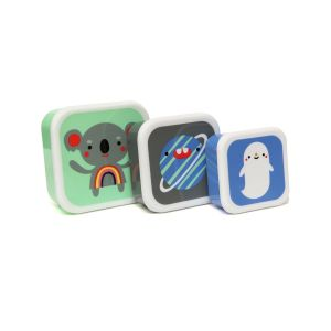 Petit Monkey Set 3 Snack-Dosen, Koala & Friends