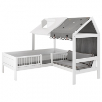 Lifetime Kidsrooms Beach House Eckbett, weiss lackiert