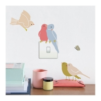 MIMIlou Wandsticker Just a Touch, Birds on Light