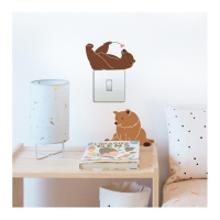 MIMIlou Wandsticker Just a Touch, Lazy Bears