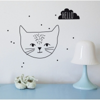 MIMIlou Wandsticker Just a Touch, Hello Cat
