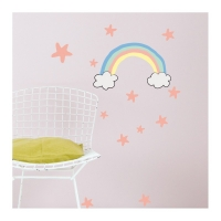 MIMIlou Wandsticker Just a Touch, Regenbogen