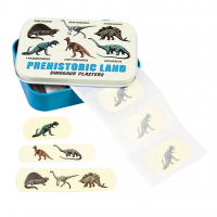Rex London Pflaster-Set (30 Stück) in Metalldose, Prehistoric Pals