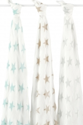 Aden Anais Silky Soft Swaddles, 3er-Pack - Milky Way