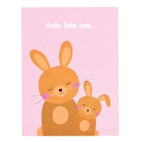 Rex London Geburtstagskarte, Hello Little One - Bunny