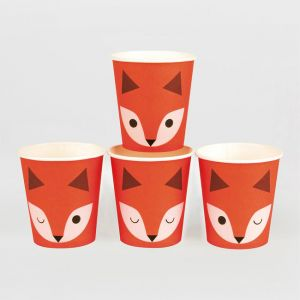 My Little Day Kartonbecher, Mini Fox, 8-er Pack