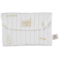 NOBODINOZ Windeltasche Bagatelle - Gold Secrets/ White