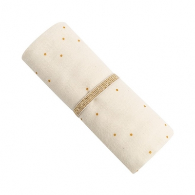 Nobodinoz Baby Love Swaddle, 70x70 - Honey Sweet Dots