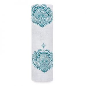 Aden Anais Mulltuch Swaddle, Paisley Teal