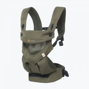 Ergobaby Babytrage 360° 4-Positionen, Cool Air Mesh Khaki Green