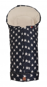 Kaiser Thermo Fusssack Star Print Outside, Navy