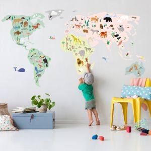 MIMIlou Wandsticker Giant World Map