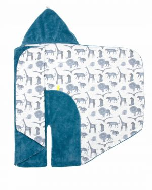 Snoozebaby Wickeldecke Trendy Wrapping, Storm Blue