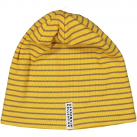 Geggamoja Wintermütze mit Flies, Mustard Stripes