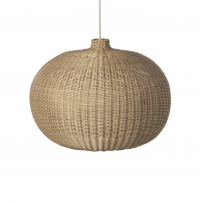 Ferm Living Deckenlampe aus Rattan, Belly Lamp