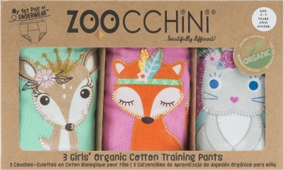 ZOOCCHINI Training Pants Girl aus Bio-Baumwolle - Woodland Prinzess (2-3 Jahre)