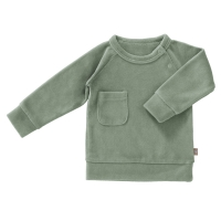 Fresk Velour Pullover, forest green