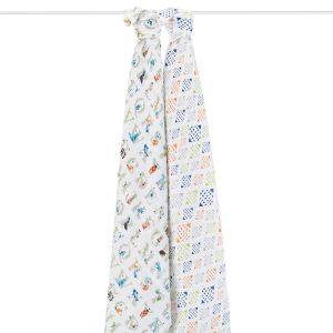 Aden Anais Mulltuch Swaddles 2er-Pack, Paper Tales