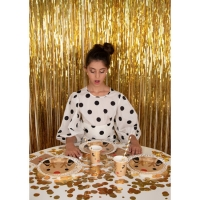 My Little Day Party Mylar Vorhang, gold