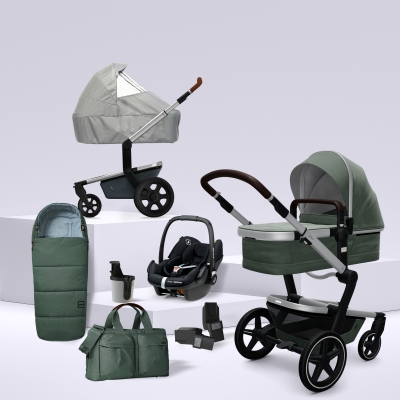 JOOLZ Day+ Kinderwagen #3KHSetPremium 8in1, Marvellous Green (mit Maxi Cosi)