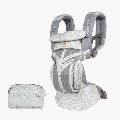 Ergobaby Omni 360-Babytrage, Cool Air Mesh, Grey Leopard (Limited Edition)