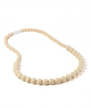 Milkii Stillkette Kaukette, Small Pearls Big, Beige
