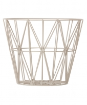 Ferm Living Wire Basket - Grau, klein