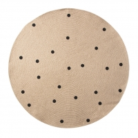 Ferm Living Teppich aus Jute, Dots black, gross