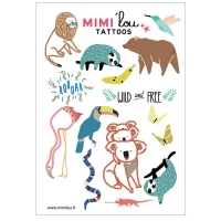 MIMIlou Kinder-Tattoos, Wild Animals