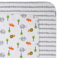 ZOOCCHINI Flanelldecken, 2er Set, Safari