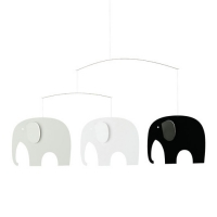 Flensted Mobile, Elephant Party, schwarz/ weiss